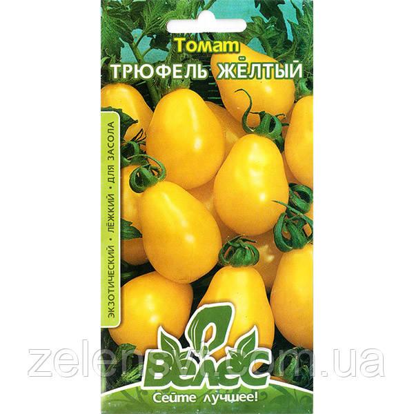 """Насіння томату високорослої, середньостиглої, придатного для засолювання """"Трюфель жовтий"""" (0,15 г) від ТМ """"Велес"""""""