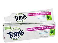 Отбеливающая зубная паста Tom's of Maine Antiplaque & Whitening fluoride-Free Toothpaste