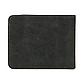 Мужской Кошелек Бумажник Baellerry (D8661) Маленький Искусственная Кожа Темно-Серый, фото 5
