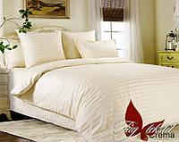 Комплект постельного белья Евро Crema ТМ TAG Evro, постельное белье евро