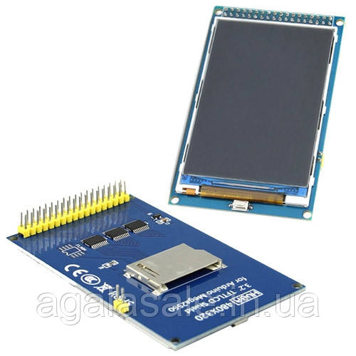 LCD TFT 3.2 дисплей 480x320, SD слот, Arduino Mega Due