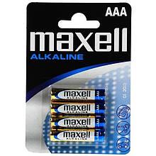 Батарейка Maxell AAA/LR03 BL 4шт