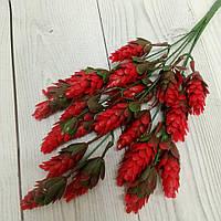 Куст хмеля. цвет красный,  30 см