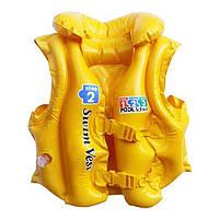 Жилет 3-6 лет желтый 58660 Intex