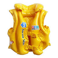 Жилет 3-6 років жовтий 58660 Intex