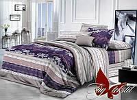 Комплект постельного белья полуторный XHY1254-2 ТМ TAG 1,5-спальный, постельное белье полуторка