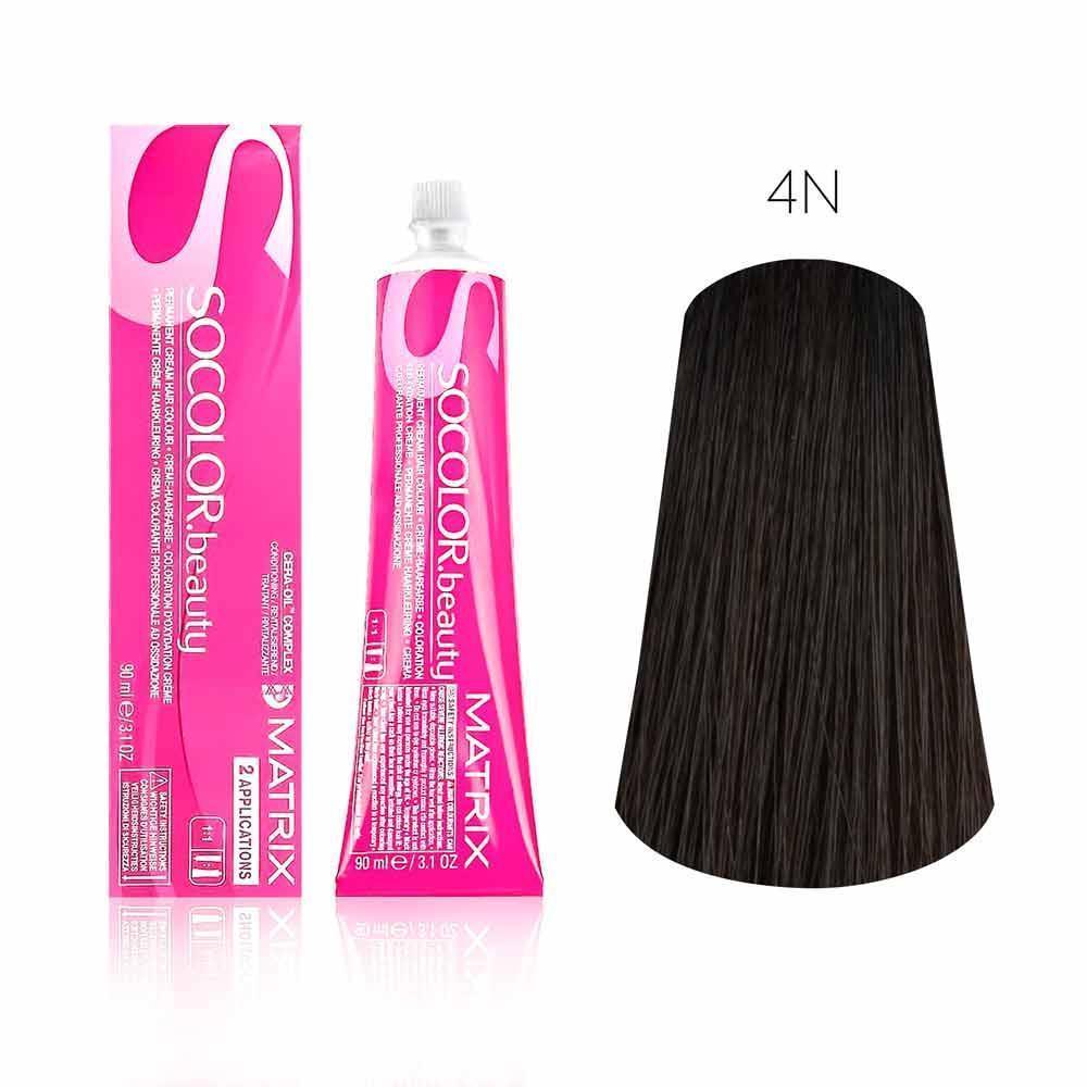 Купить Стойкая краска для волос Matrix SOCOLOR.beauty 4N, Matrix Professional