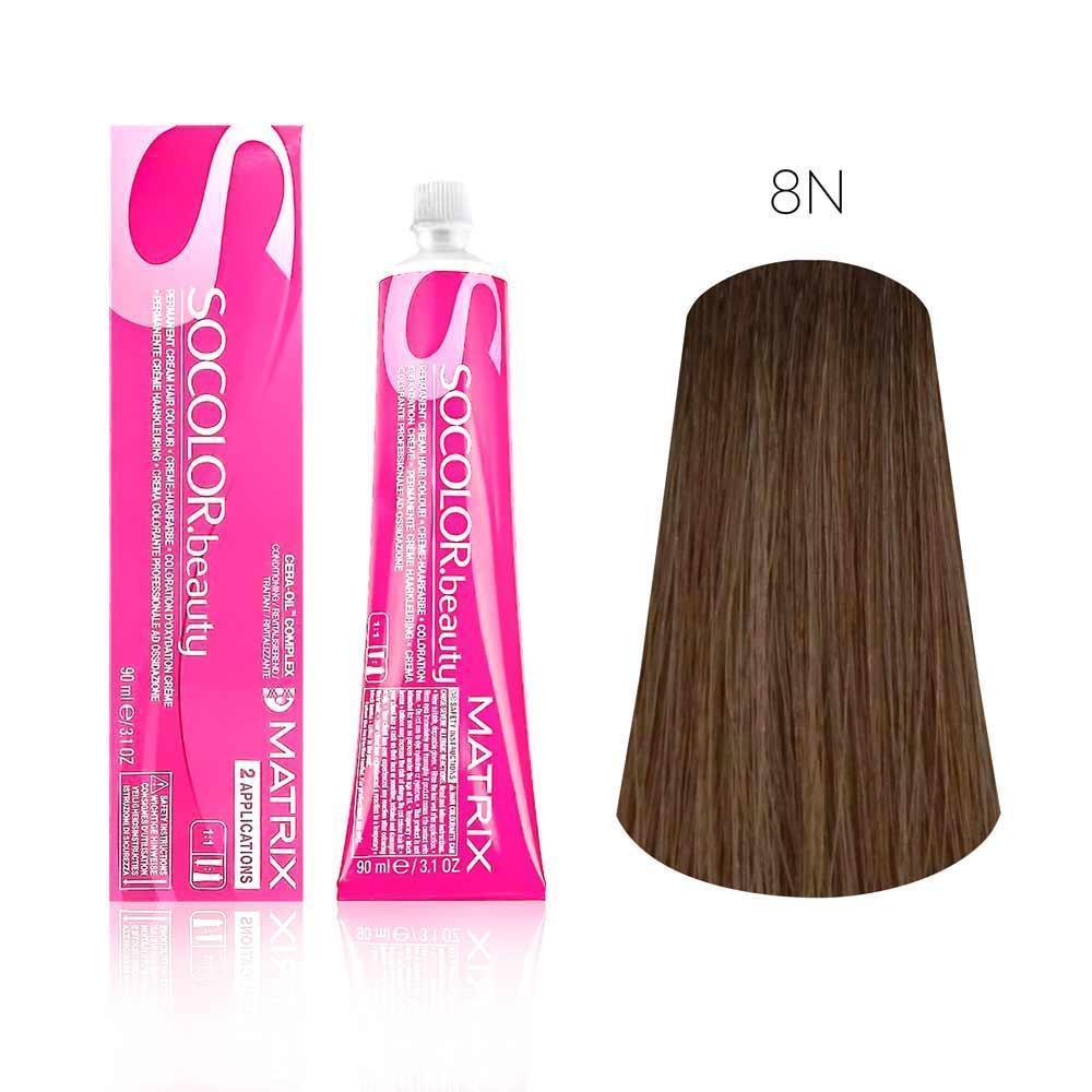 Купить Стойкая краска для волос Matrix SOCOLOR.beauty 8N, Matrix Professional
