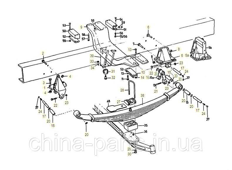 Каталог запчастей#Передняя подвеска 4х2 , 6х2 , 6х4