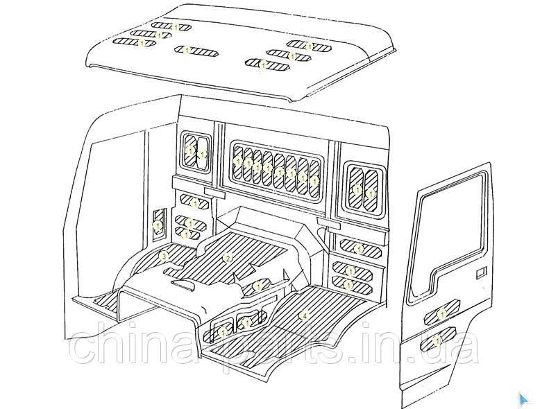 Каталог запчастей#Шумоизоляционные материалы высокой и длинной кабины