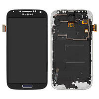 Дисплейный модуль (дисплей и сенсор) для Samsung I9500 Galaxy S4, черный, с рамкой, с регулировкой яркости, (TFT)