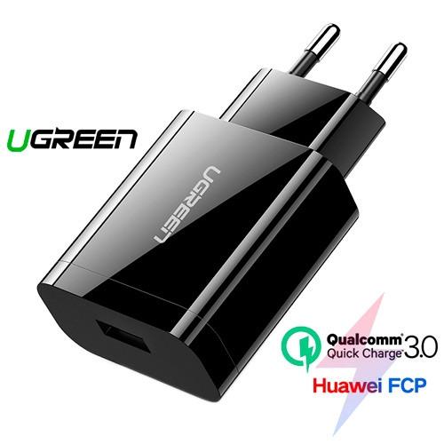 USB зарядний пристрій QC3.0, 5/9/12В 18Вт Ugreen CD122