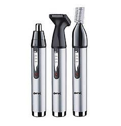 Тример 3 в 1 Progemei Gm-3107 для видалення волосся з носа і вух окантовки брів (bks_01916)