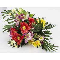 """Букет """"Космея+ірис"""" мікс 45см 24 квітки непресований"""
