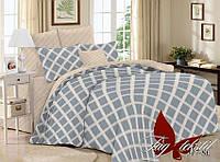 Комплект постельного белья полуторный с компаньоном SL317 ТМ TAG 1,5-спальный, постельное белье полуторка