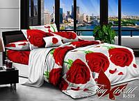 Комплект постельного белья полуторный R519 ТМ TAG 1,5-спальный, постельное белье полуторка