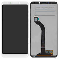 Дисплейный модуль (дисплей и сенсор) для Xiaomi Redmi 5, белый, оригинал