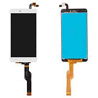 Дисплейный модуль (дисплей и сенсор) для Xiaomi Redmi Note 4X, белый, оригинал, Snapdragon, BV055FHM-N00-1909_R1.0