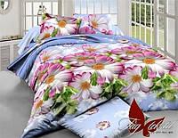 Комплект постельного белья полуторный XHY961 ТМ TAG 1,5-спальный, постельное белье полуторка
