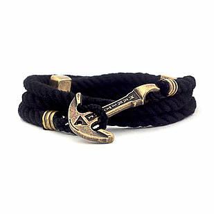Браслет с якорем MARITIME Black Swan Черный (mt1205)
