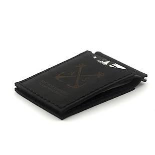 Зажим для Купюр Anchor Stuff с двумя отделениями для карт (as110202) Чёрный