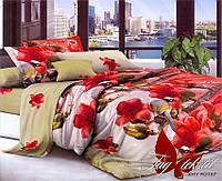 Комплект постельного белья полуторный XHY2167 ТМ TAG 1,5-спальный, постельное белье полуторка