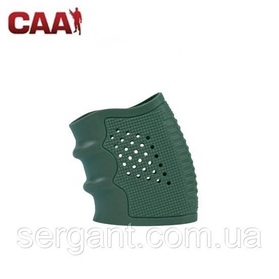 Накладка ергономічна гумова CAA TACTICAL (Ізраїль) на рукоятку пістолета ЗЕЛЕНА