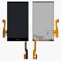 Дисплейный модуль (дисплей и сенсор) для HTC One M8, One M8 Dual SIM, One M8e, черный