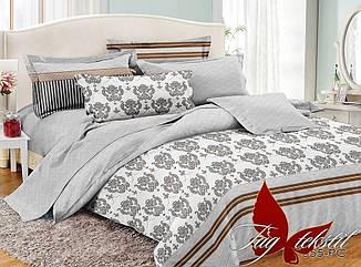 Комплект постельного белья полуторный с компаньоном PC055 ТМ TAG 1,5-спальный, постельное белье полуторка