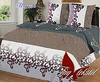 Комплект постельного белья полуторный Мираж ТМ TAG 1,5-спальный, постельное белье полуторка