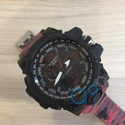 Casio G-Shock GWG-1000 Black-Red-Militari Wristband