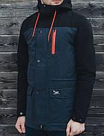 Парка куртка мужская весна Staff fish-tail navy and black