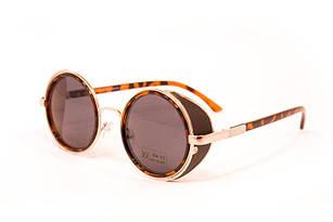 Женские круглые очки Коричневые (9011-2)