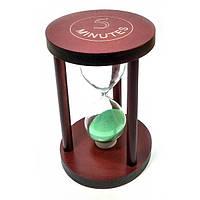 Часы песочные 5 мин зеленый песок(12х8х8 см) ( 32050B)