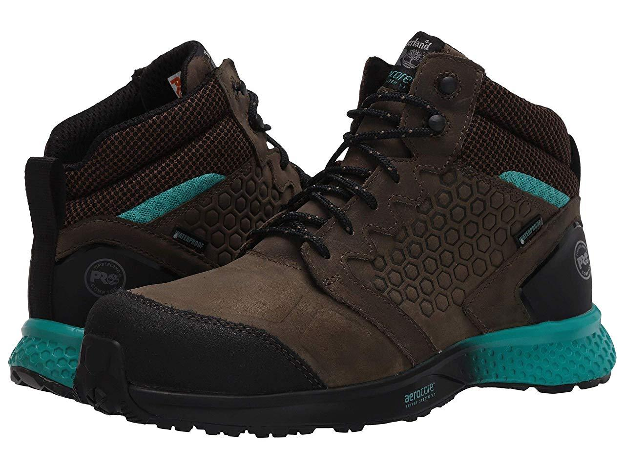 Кроссовки/Кеды Timberland PRO Reaxion Mid Composite Safety Toe Waterproof Brown/Blue