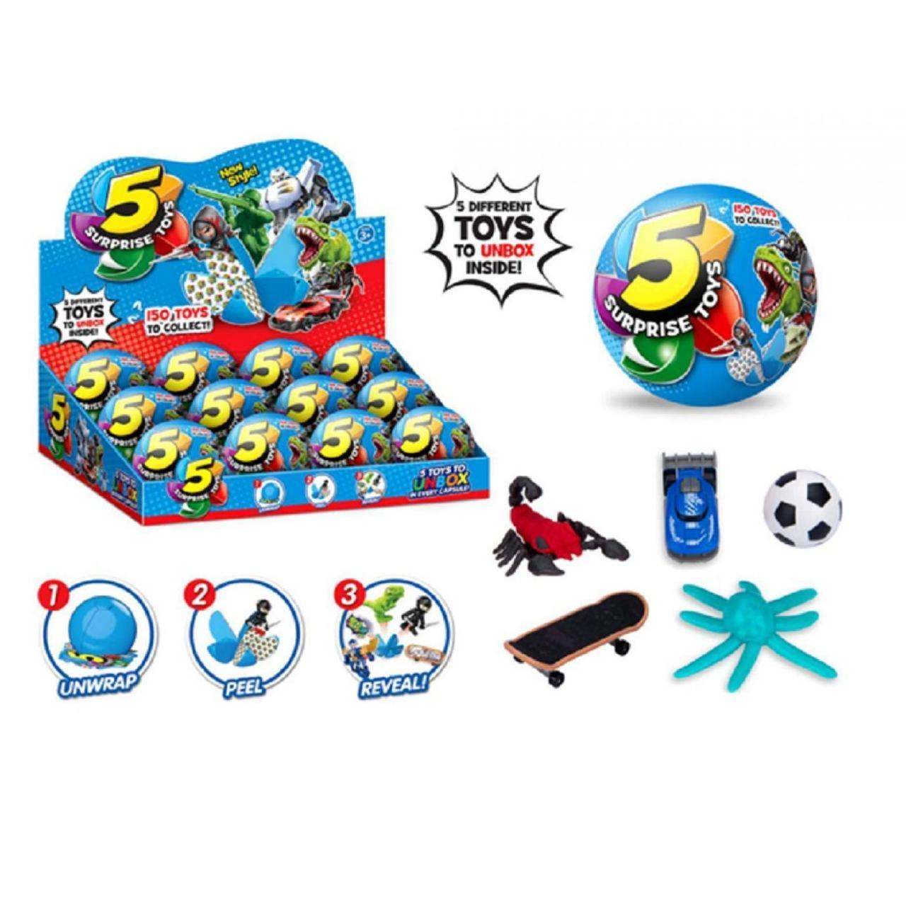 Герої в кулі,складається з 5 сегментів у кожному іграшка,в дисплеї,35х26,2х9см №520(12) КІ