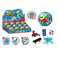 Герої в кулі,складається з 5 сегментів в кожному іграшка,в дисплеї,35х26,2х9см №520(12) КІ
