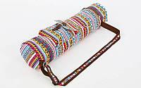 Сумка для йога коврика Yoga bag Fodoko (размер 16смх70см, полиэстер, хлопок, оранжевый-голубой) PZ-FI-6972-5