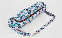 Сумка для йога коврика Yoga bag Kindfolk (размер 17смх72см, полиэстер, хлопок, розовый-голубой) PZ-FI-8362-2