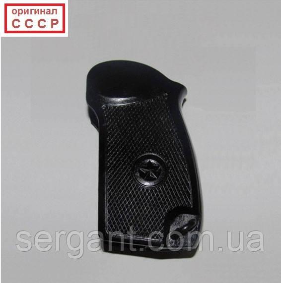 Чёрная пластиковая оригинальная НОВАЯ рукоятка для пистолета Макарова ПМ (оригинал СССР)
