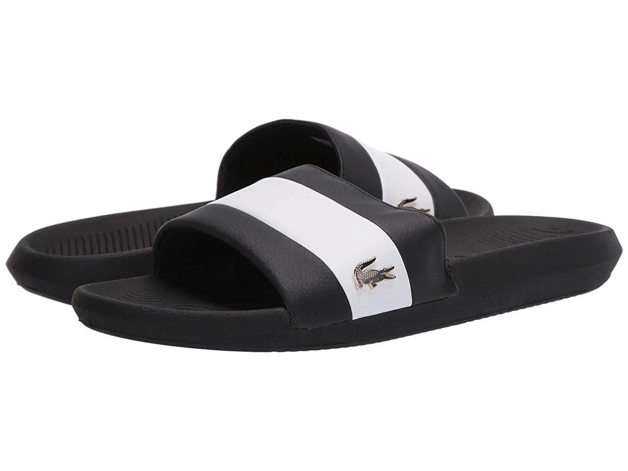 Сандали/Вьетнамки Lacoste Croco Slide 120 3 US Black/White