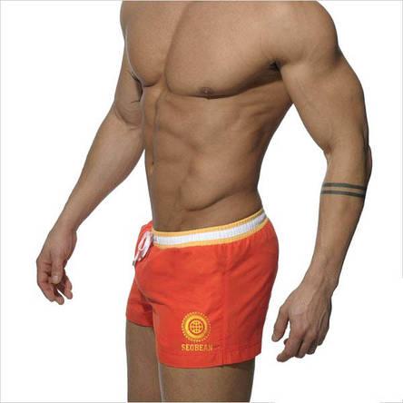 Мужские шорты Seobean оранжевые Оранжевый, XL, фото 2