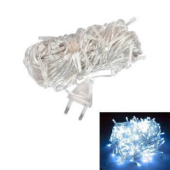 Гірлянда новорічна світлодіодна біла 80 LED 8.5 м