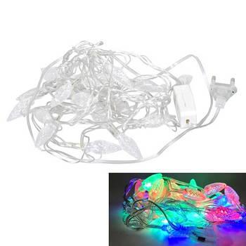 Гірлянда новорічна світлодіодна цветная Шишки 20 LED ламп 4.5 м