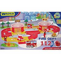 """Гараж """"Пожежна"""" """"Kid Cars 3D"""" №53310 довжина шляху 3м / Wader /"""