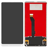 Дисплейный модуль (дисплей и сенсор) для Xiaomi Mi Mix 2, Mi Mix Evo, белый, оригинал