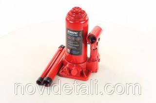 Домкрат бутылочный, 4т, красный H=185/350