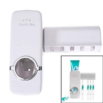 Дозатор зубной пасты с держателем щеток диспенсер самоклеющийся