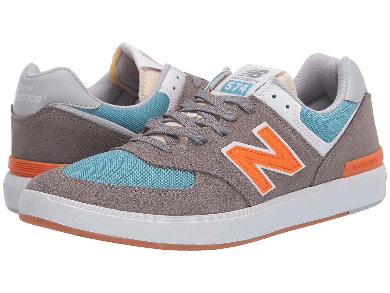 Кроссовки/Кеды New Balance Numeric AM574 Grey/Orange