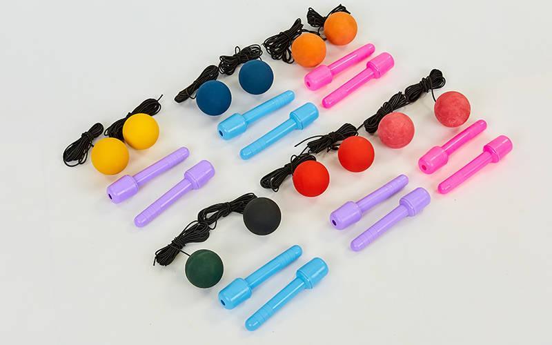 Тренажер для координации (ручки с двумя мячиками) WEILEPU